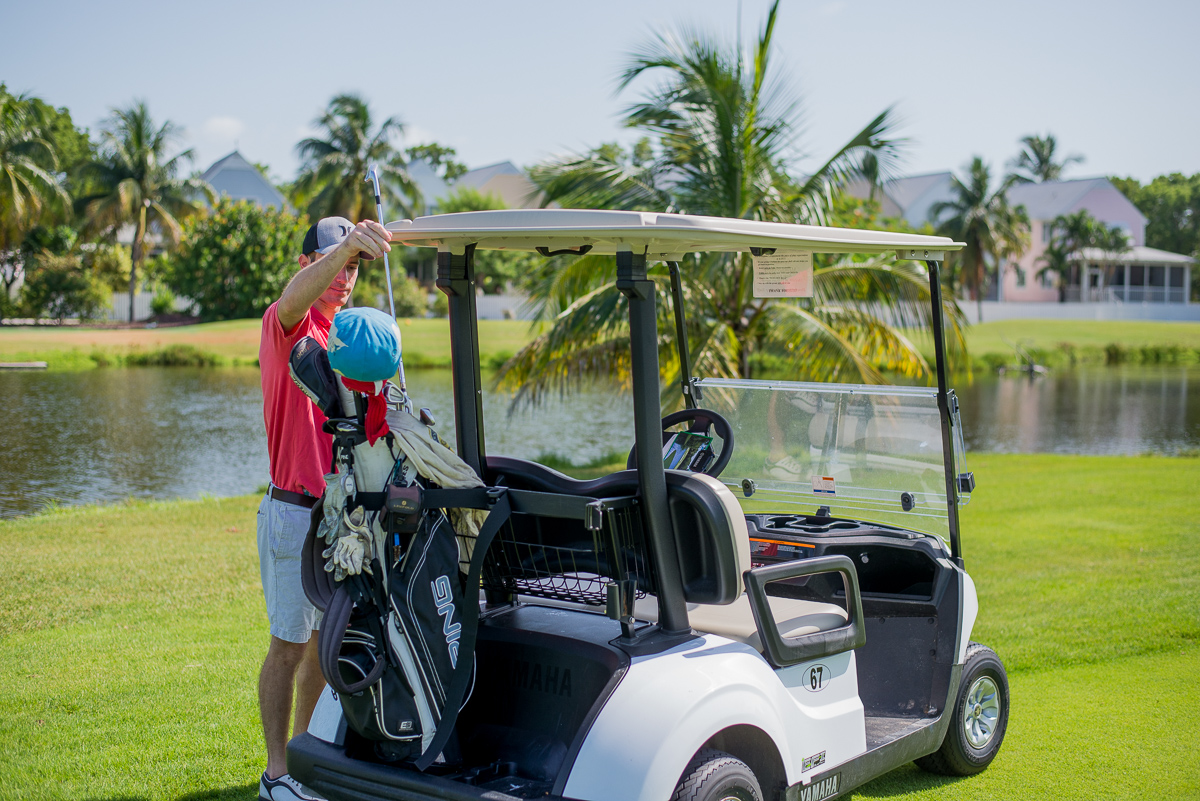 Key West Golf Course Man & Cart