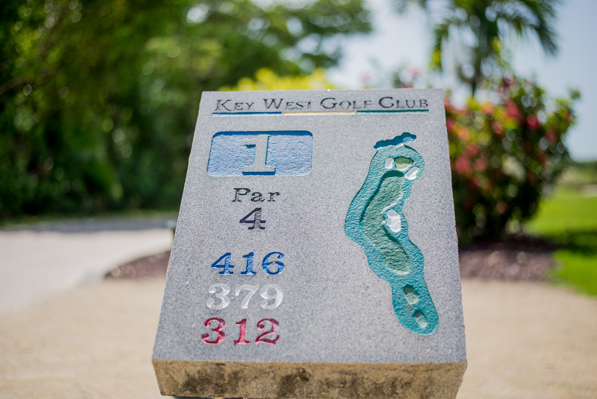 Key West Golf Course first hole info