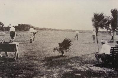 Historical Key West Golf Club players on fairway