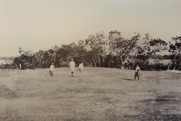 Historical Key West Golf Club players on green