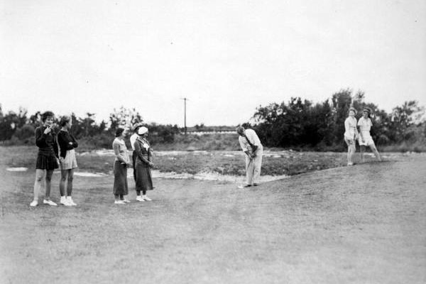 Historical Key West Golf Club chipping on green